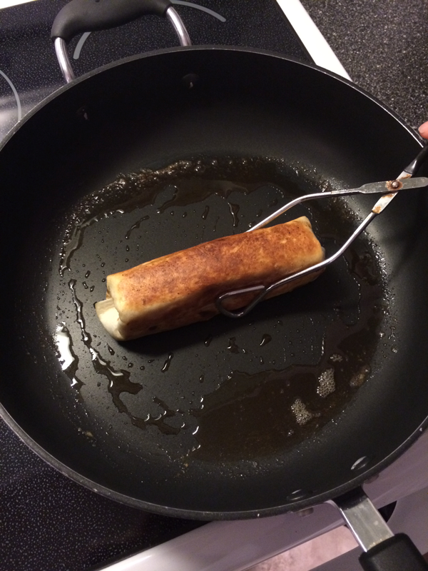 Browning the Empanada