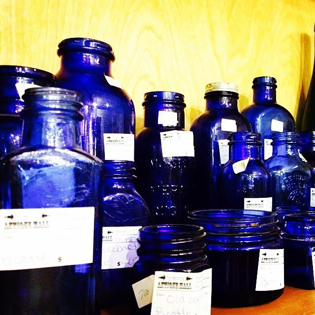 Love the color of these old bottles. #blue #vintage #antique