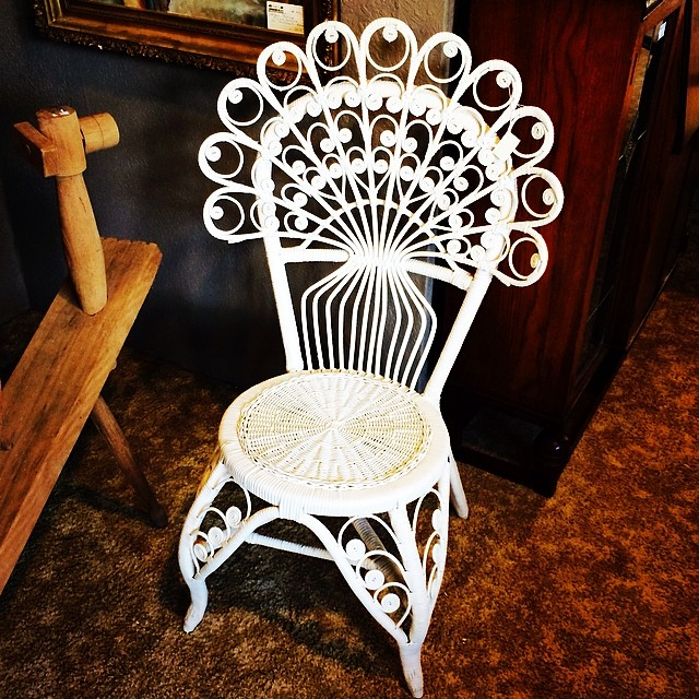 Wanted this so bad, & would have made room for it, but the price was painful. #peacock #chair