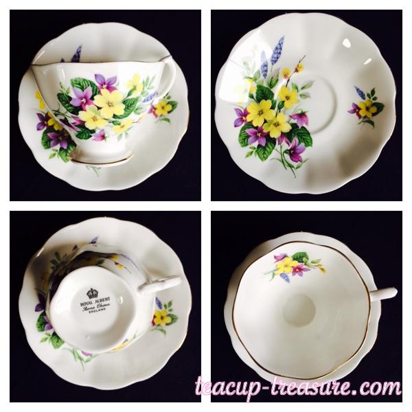 Royal Albert - Purple & Yellow Flowers - $18 USD