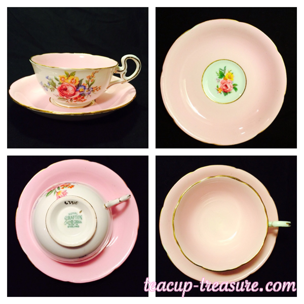 Royal Grafton - Solid Pink and white and pink rose - $20 USD