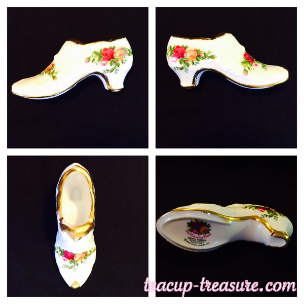 """Royal Albert - """"Old Country Roses"""" - Shoe - $20 USD"""