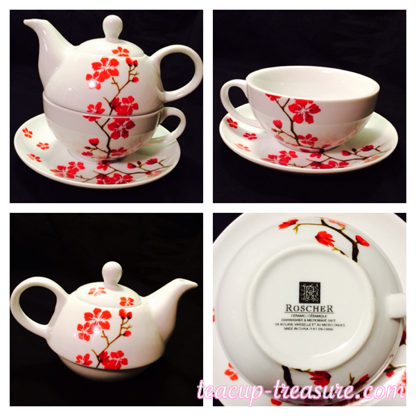 Roscher - Red Blossoms - Tea For One - $30 USD
