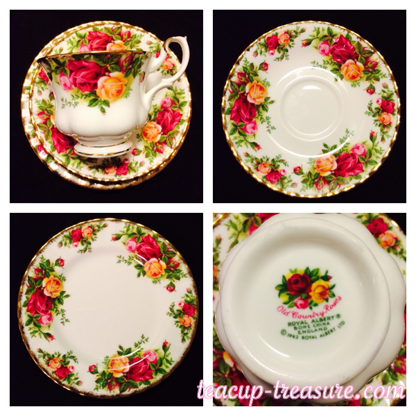 """Royal Albert - """"Old Country Roses"""" Trio - $30 USD"""