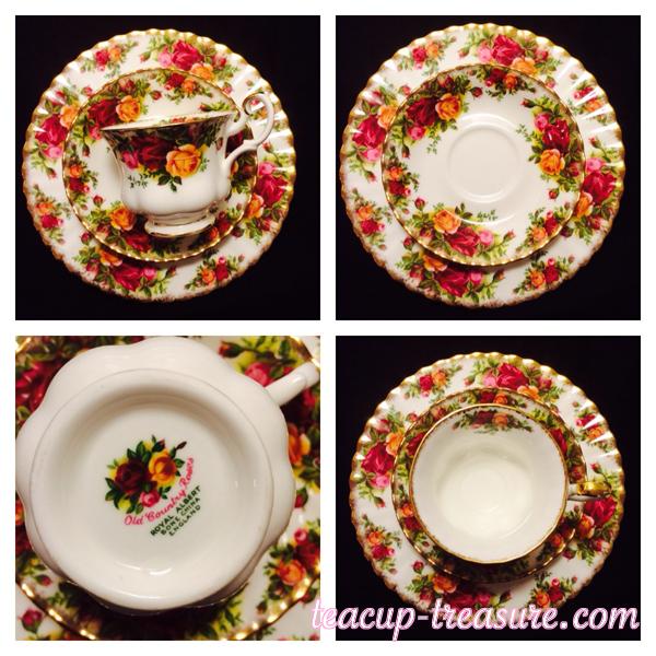 "Royal Albert - ""Old Country Rose"" - Dessert Plate Trio - $35 USD"