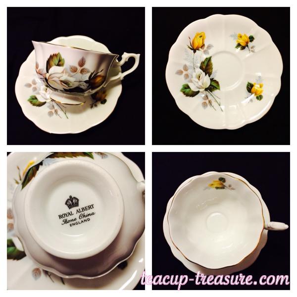 Royal Albert - White & Yellow Rose - $18 USD