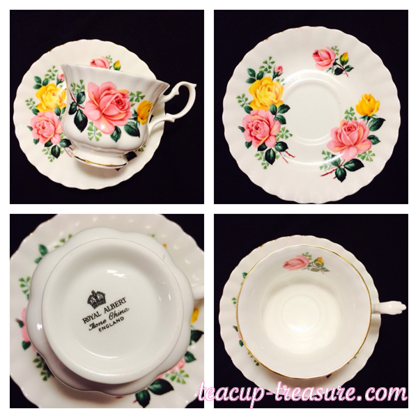 Royal Albert - Pink and Yellow flowers - $18 USD