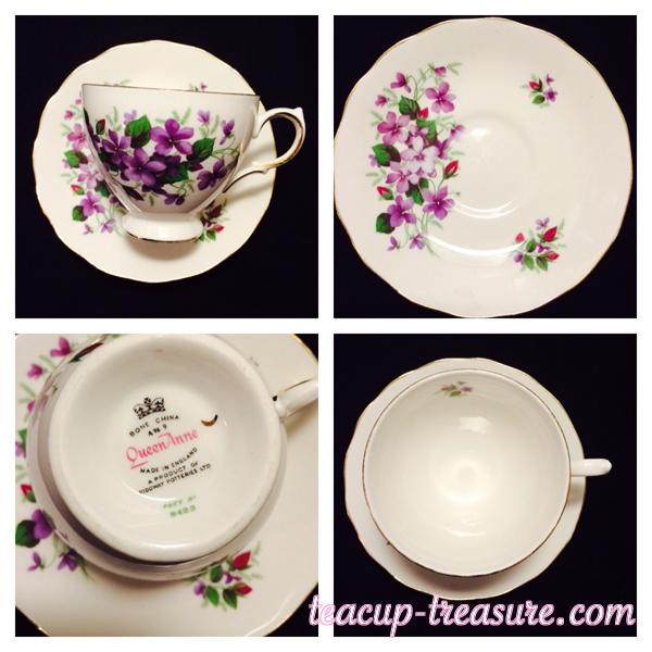 Queen Anne - Purple Violets - $18 USD