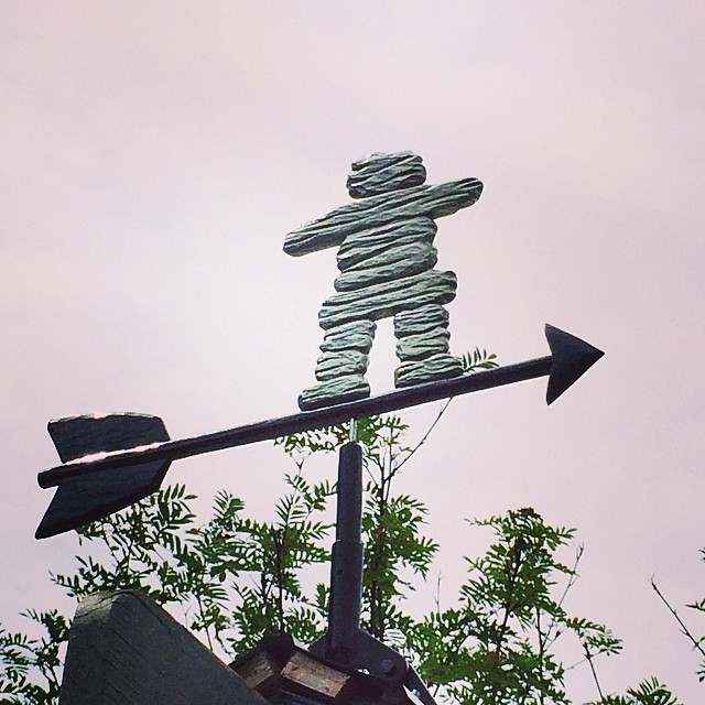 My father made me a lovely weathervane as a thank you gift. #precious #handmade #inuksuk #inukshuk