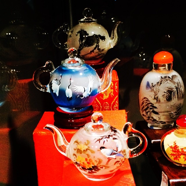 Glass teapots. Reverse hand painted from inside. Gorgeous. #teapot #teatime