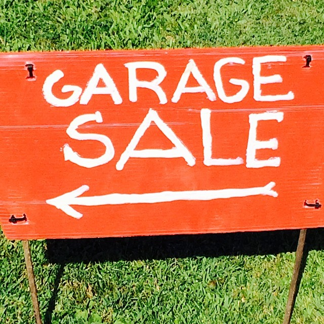 I hate mornings, but managed to get up for sales. Found a couple treasures for myself & went for breakfast. Great day, and it's not even noon yet! #yardsale #garagesale