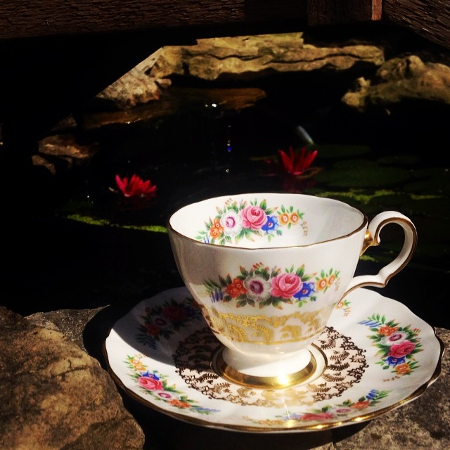 Beautiful lace teacup with tiny flowers. $18 USD plus shipping. #grosvenor #england