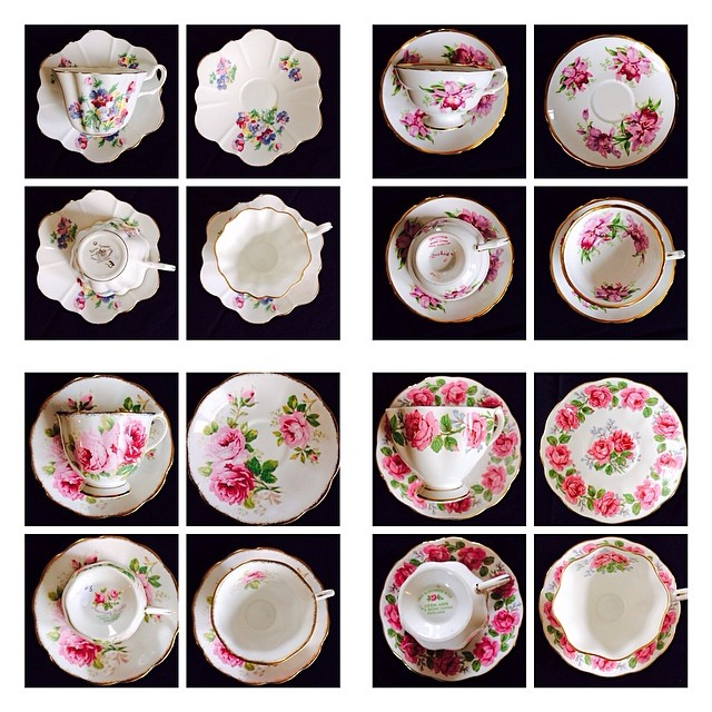 More cataloging of my for sale items on this cool, windy day. It can't decide if it's going to rain or not. Sweating & shivering. #teacups #teacup #vintage