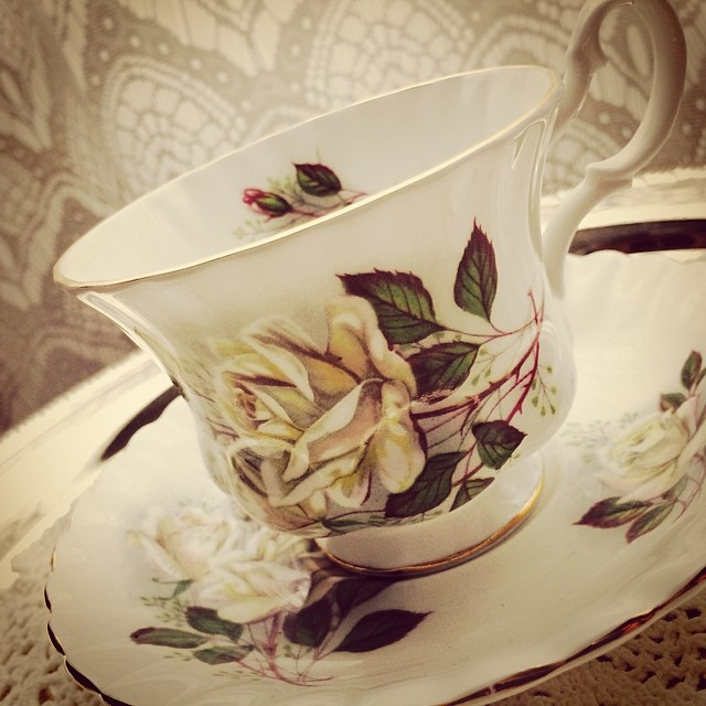 Royal Albert White Rose $18 USD plus shipping. #royalalbert #whiterose #teacup
