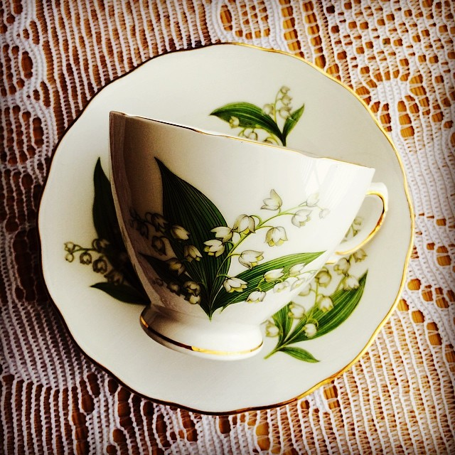 Due to overwhelming interest, I bring you... Lily of the valley $18 USD. DM me if interested. More at: teacup-treasure.com/catalogue #royalvale #teacup #lilyofthevalley