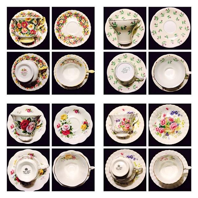 Royal Albert & Aynsley added to catalogue last night. #aynsley #royalalbert #teacup #teacups #vintage #petitpoint #fragranceseries #scottishthistle Catalogue at: teacup-treasure.com/catalogue