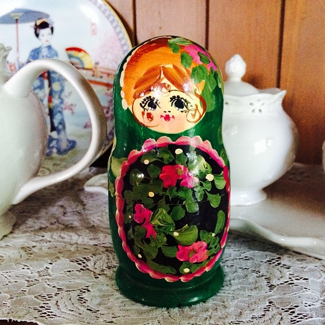 A lucky find over the weekend. #matryoshka #nestingdoll #vintage #collector #mine