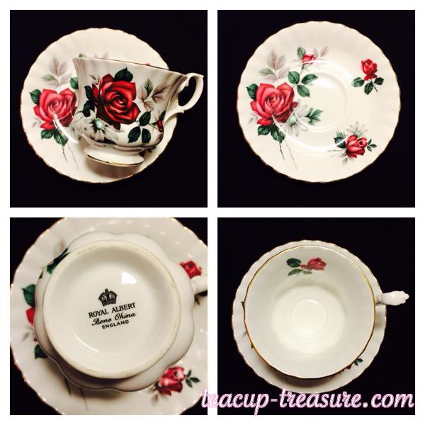 Royal Albert - Montrose shaped Red rose - $18 USD