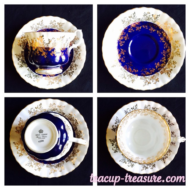 Radiant royal blue from Royal Albert's Regal Series. $25 USD plus shipping. DM or email if interested. Many more tea cups available at teacup-treasure.com/catalogue #teacup #vintage #regalseries #royalblue #blue #royalalbert #teacup4sale #teacupforsale