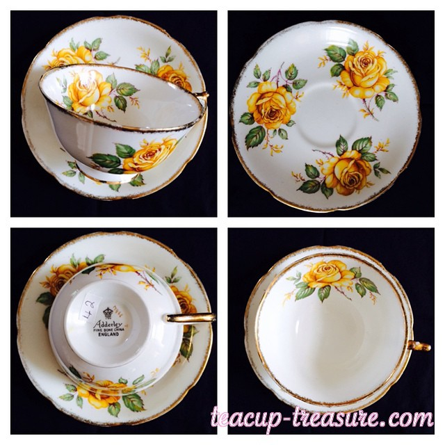Adderley is lovely in yellow. DM or email. More cups at teacup-treasure.com/catalogue #teacup4sale #teacupforsale #tea #teacup #teacups #teatime #vintage