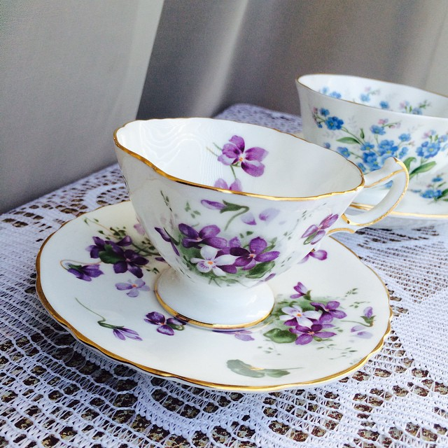 Hammersley Victorian Violets Jr. & Royal Albert Forget-me-not. Email if interested. Ships Worldwide. Paypal accepted. More cups at http://teacup-treasure.com/catalogue #teacup4sale #teacupforsale #tea #teacup #teacups #teatime #vintagede available for the first time. Email if interested. Ships Worldwide. Paypal accepted. More cups at http://teacup-treasure.com/catalogue #teacup4sale #teacupforsale #tea #teacup #teacups #teatime #vintage