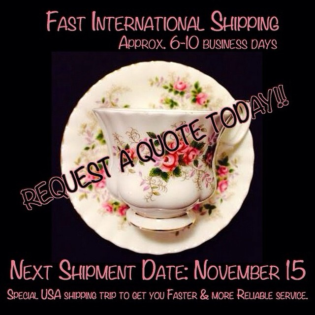 More cups to be uploaded tonight!! Email if interested. Ships Worldwide. Paypal accepted. Updated catalogue at http://teacup-treasure.com/catalogue #teacup4sale #teacupforsale #tea #teacup #teacups #teatime #vintage