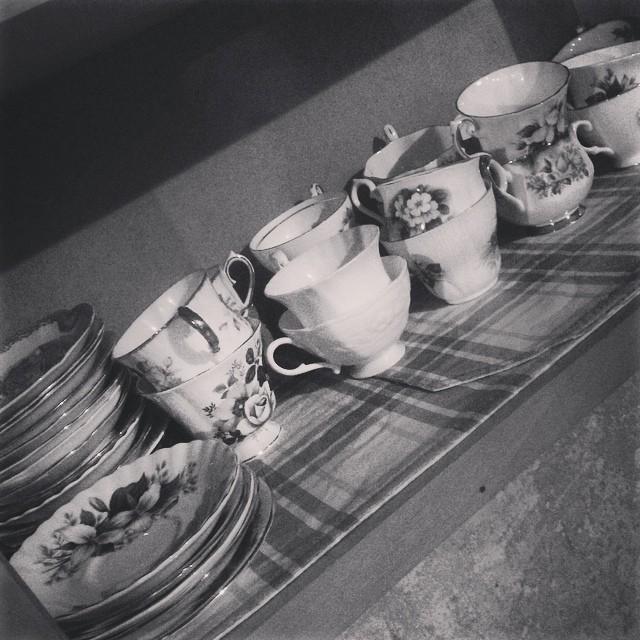 Day 1 of #blackandwhite challenge. Tea cup graveyard.