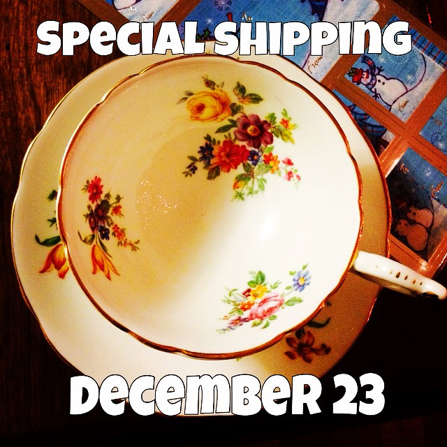 The next International Shipping day is December 23. Delivery is approx. 6-10 days after that. Please place your orders & pay all invoices by December 21. Thank you. Any orders or changes to orders after December 22 will not go out with this shipment. Happy Holidays!