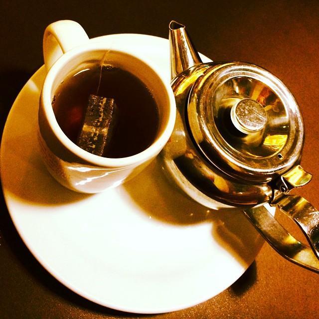 Feel a cold rolling in. Tea for me. #tea #mug #teapot