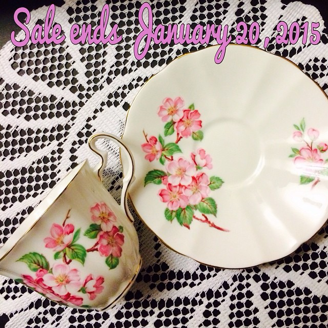 New Year Sale!! $13 USD cup & saucers as marked. Discounts on lots of misc items. 5% off orders of 5 or more cups. Email if interested. Ships Worldwide. Paypal accepted. More cups at http://teacup-treasure.com/catalogue #teacup4sale #teacupforsale #tea #teacup #teacups #teatime #vintage