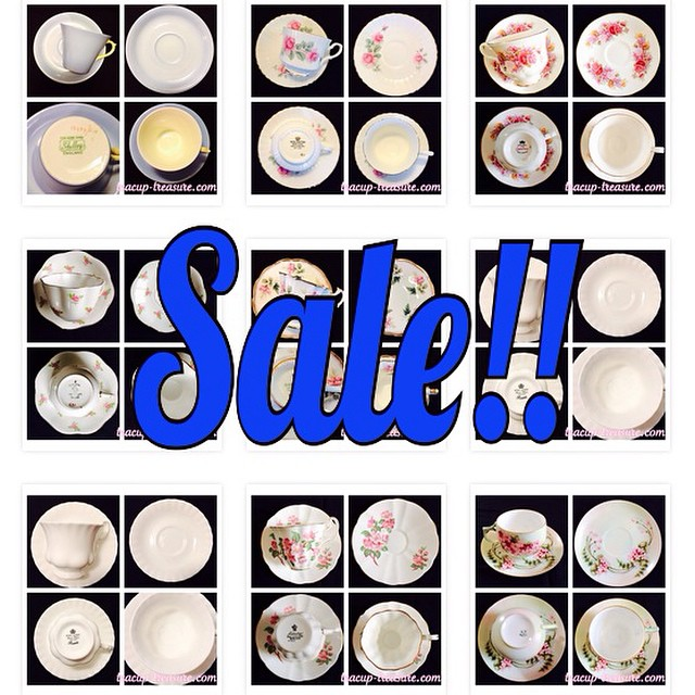 New Year Sale!!! Price drops. 5% off orders of 5 or more cups. Order now! Sale ends January 20, 2015. Email if interested. Ships Worldwide. Paypal accepted. More cups at http://teacup-treasure.com/catalogue #teacup4sale #teacupforsale #tea #teacup #teacups #teatime #vintage