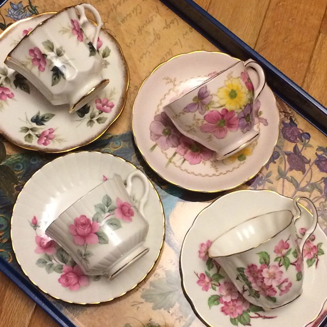 Just a few of the beauties on sale now for $13 USD each. Email if interested. Ships Worldwide. Paypal accepted. More cups at http://teacup-treasure.com/catalogue #teacup4sale #teacupforsale #tea #teacup #teacups #teatime #vintage