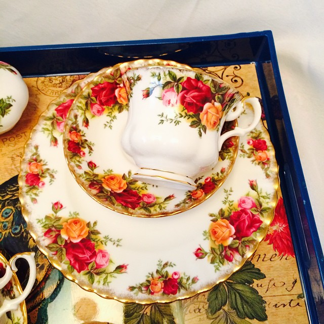 Old Country Roses. Many more OCR pieces on website. Email if interested. Ships Worldwide. Paypal accepted. More cups at http://teacup-treasure.com/catalogue #teacup4sale #teacupforsale #tea #teacup #teacups #teatime