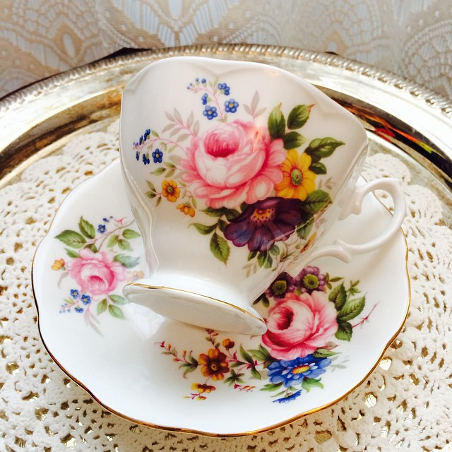 Rosie Royal Albert. Email if interested. Ships Worldwide. Paypal accepted. More cups at http://teacup-treasure.com/catalogue #teacup4sale #teacupforsale #tea #teacup #teacups #teatime #vintage