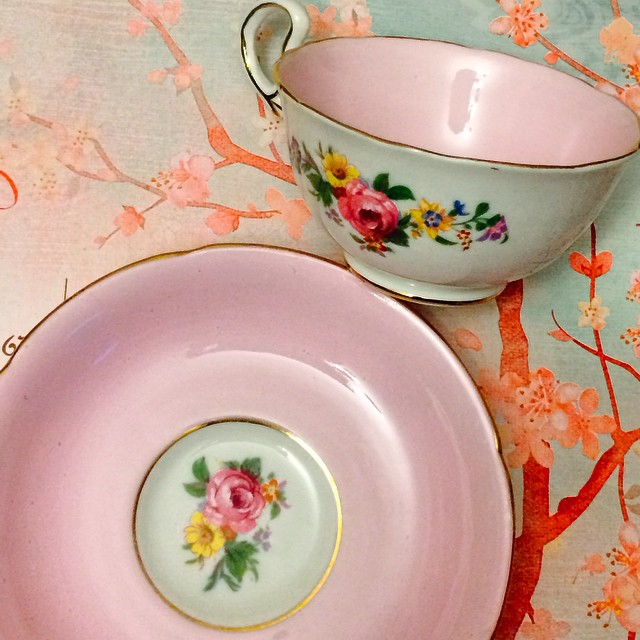 Pretty pink Royal Grafton England. Email if interested. Ships Worldwide. Paypal accepted. More cups at http://teacup-treasure.com/catalogue #teacup4sale #teacupforsale #tea #teacup #teacups #teatime #vintage